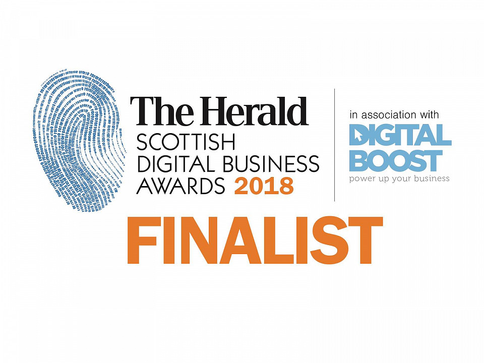 Herald Scottish Digital Business Award finalist badge
