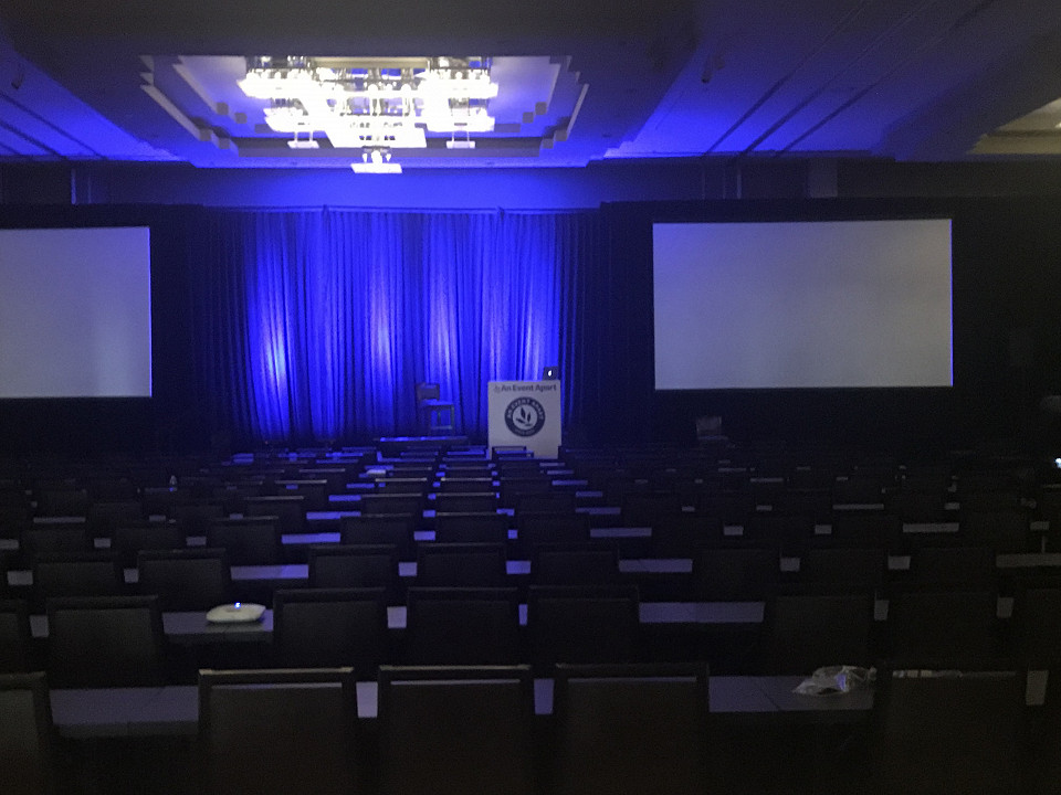 A photo of the conference hall in The Westin, Chicago Hotel for An Event Apart